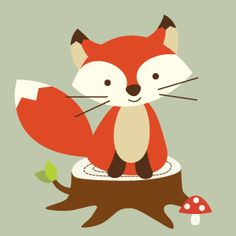 Forest Friends Fox   Animal Pictures   Childrens Wall Art   Nursery