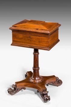 Regency Period Rosewood Tea Poy (Ref No. 3227) - Windsor House Antiques