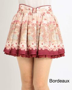 picture of LIZ LISA Raspberry Pattern Sukapan Skirt 1