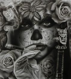 #airbrush #art - Day of the Dead Festival by Minh Hang