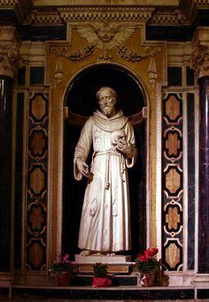 Saint Francis of Assisi, 1616-Michelangelo Naccherino—Santa Chiara, Naples, Italy