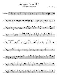 Partituras Trombone, Trombone Sheet Music, Cello Music, Music Chords, Piano Sheet Music, Music Sheets, Bassoon, Guitar Chords, Easy Sheet Music