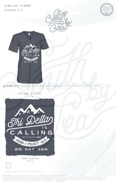 Tri Delta   Tri Delt   Bid Day   Recruitment   Mountain Design   Tri Delta is…
