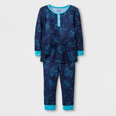 3d192faac2 An entire galaxy of constellations will be with your little one all night  with this Constellation Thermal Pajama Set from Cat   Jack™.