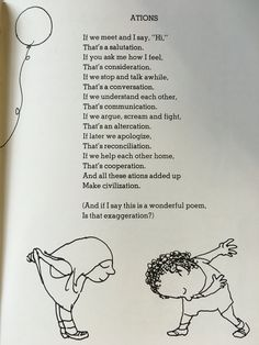 Actions by Shel Silverstein