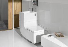 Um sistema automático de limpeza previne mau cheiro e a proliferação de bactérias. O sistema interno controla a temperatura e vazão da água para economizar