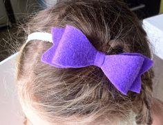 felt ribbon bow headband