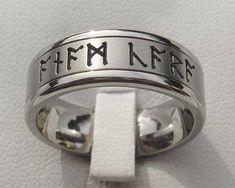 Rune or Runic Titanium Ring