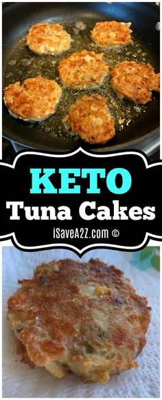 Keto Tuna Cakes Recipe - AMAZINGLY DELICIOUS and I'm not even that big of a fan of tuna! LOVED THEM! via @isavea2z