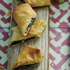 Spinach, Herb, and Cheese Phyllo Rolls | MyRecipes.com