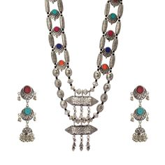 Afghani/Turkish Necklace Earrings Set Silver Tone Casual Daily Wear Statement Jewelry for Women JAN-1976 ** Continue to the product at the image link. (As an Amazon Associate I earn from qualifying purchases) Jewelry Sets, Women Jewelry, Daily Wear, Statement Jewelry, Earring Set, Image Link, Amazon, Casual, Silver