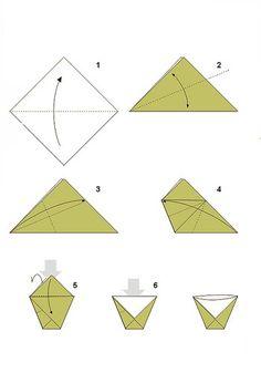 Výsledok vyhľadávania obrázkov pre dopyt postup pre skladanie pohára z papiera