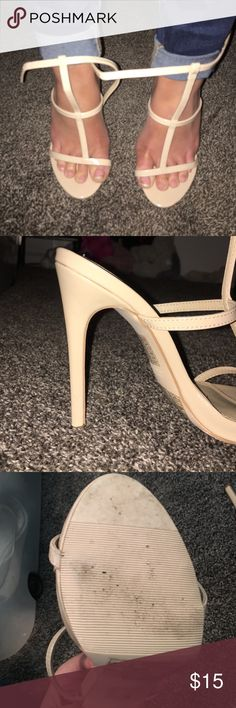 Forever 21 Heels Worn once around NYC, size 6.5. Very tall. Color is nude Forever 21 Shoes Heels