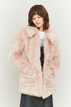Jakke Tammy Pink Faux-Fur Jacket