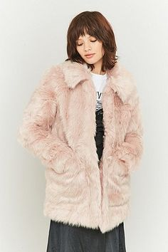 Jakke Tammy Pink Faux-Fur Jacket