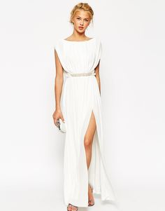 ASOS COLLECTION ASOS Embellished Waist Maxi Dress