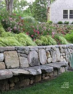 Have a seat...very cool for the retaining wall in your garden or yard by aftr