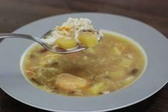 Fotorecept: Zemiakovo-cesnaková polievka s vajciami