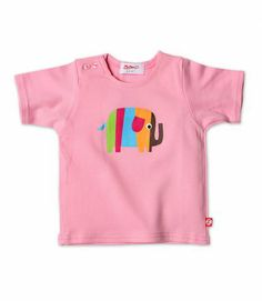 Pink Elephant Baby Short Sleeve Screen Tee