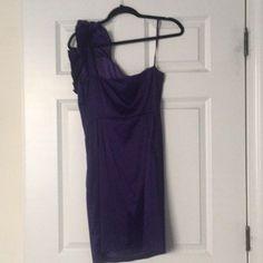 38e8d14800d153 Francesca s Silk dress (Purple. Size Large). Worn once. Off the shoulder
