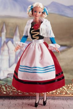 german barbie dolls of the world collection | German-Barbie-Doll-2nd-Edition-1995-barbie-dolls-of-the-world-C2-AE ...