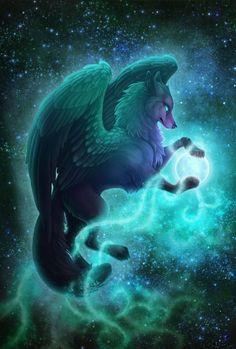 11 Anime Wolf Wallpaper Deviantart in 2020 Mythical creatures art Cute fantasy creatures Mythical creatures