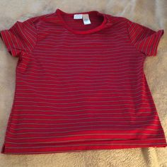Pro spirit Red Striped Workout Top Red striped workout top. Size large. 90% polyester/10% Lycra spandex. Pro Spirit Tops