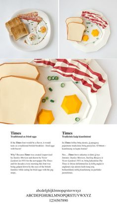 Popular Fonts Compared to Food, Given Paper Sculptures of Said Food