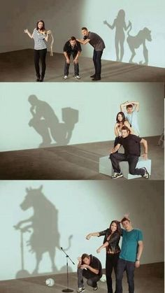 This is AMAZO what they can do by using their bodies and props to make incredible shadow art! LTD.