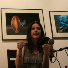 Doing some storytelling for my show: 5 Truths and a Lie (www.fivetruthsandalie.com) I was Audrey has her own storytelling show called 5 Truths and a Lie (www.fivetruthsandalie). Here she's  sharing a story about how she ran over an alligator going 60 mph in Florida.