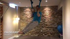 False Grip Bent Arm Hold - Gym Rings