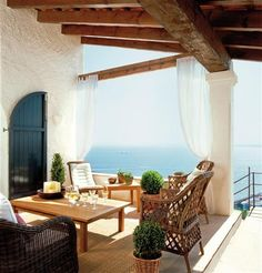 Overlooking the Mediterranean....would LOVE to have this as my back patio with THAT GORGEOUS VIEW!!!! <3