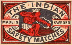 The Indian safety matches (Sweden)