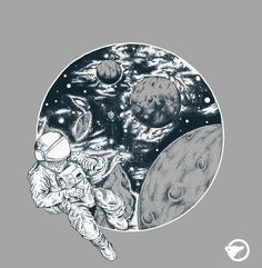 Astronaut by PRASS illustration