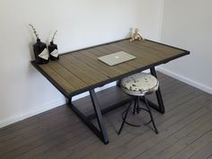 Image of Study nook table Nook Table, Dining Table, Raw Furniture, Study Nook, Image, Home Decor, Rustic Furniture, Dinning Table, Interior Design