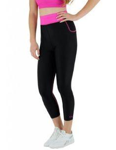 abe63a009e Delfin Spa Women s Bio Energy High Waisted Exercise Capris Health Fitness