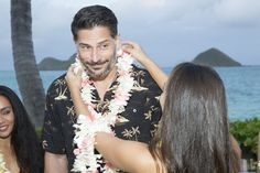 Pin for Later: Joe Manganiello Gets Lei'd at the Virgin America Hawaii Launch Party