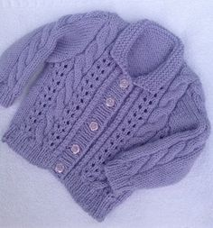 Cable and lace cardigan knitting project by Mary E   LoveKnitting