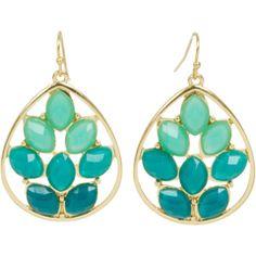 Kirra Tate Marquise Cluster Teal Earrings GSEE67053001