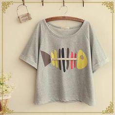 Short-Sleeve Print T-Shirt from #YesStyle <3 Fairyland YesStyle.co.uk