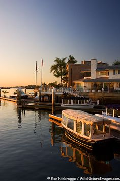 Scenic Balboa Island, Newport Beach, Orange County, California