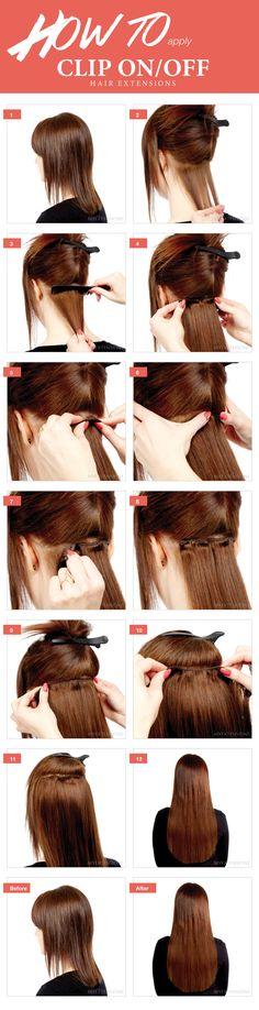 Step by step guide - Sådan påsættes clip on/off hair extensions - Se mere på http://www.myextensions.dk/da/paasaetning-af-clip-on-extensions