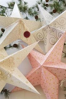 folded paper stars...