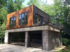 Garage Loft, Garage House Plans, Garage Plans With Loft, Modern Garage, Garage Apartments, Apartment Plans, Maine House, Renting A House, Exterior Design