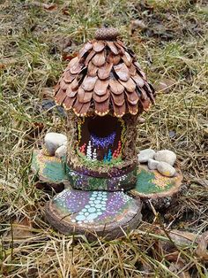Make a Fairy House. For our next fairy garden :)