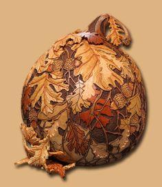 Carved Gourd - by Marilyn Sunderland