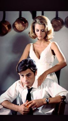 Jane Fonda and Alain Delon