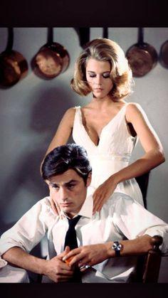 Jane Fonda and Alain Delon.