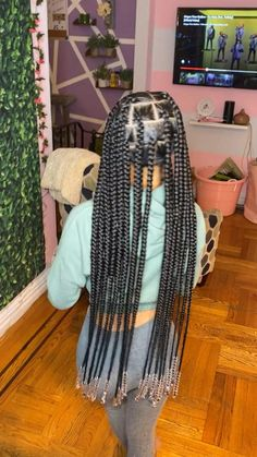 Cute Natural Hairstyles, Faux Locs Hairstyles, Protective Hairstyles For Natural Hair, Black Girl Braided Hairstyles, Black Girl Braids, Baddie Hairstyles, Braids For Black Hair, Girls Braids, Natural Hair Styles