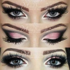 Pink and gray....very pretty